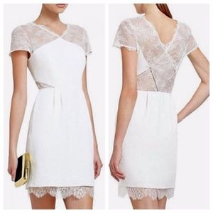 BCBG White Lace Nel Dress